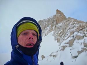 Selfie in Patagonië, januari 2014.