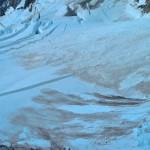 Abseilen richting de Brenva gletsjer vanaf Col Moore