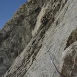 Niek boven in de Ratti-V met lastig route zoeken © N. van Veen
