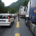 Op weg naar Italië via de tunnel om de auto te halen © N. van Veen