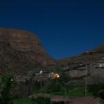 Het dorpje Taghia bij nacht
