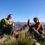Op de top van de Oujdad na de eerste vrije beklimming van Fissure de Gauche