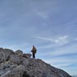Michael op de top van de Punta Rocca!