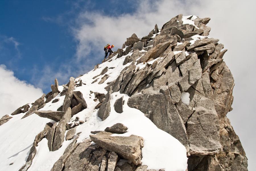 Op weg naar de top van de Dôme de Rochefort (4015 m)