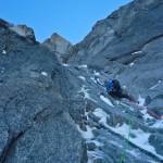 Niek helemaal verkeerd aan het klimmen ©J Staleman