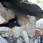 Jelle in zijn eigen grot