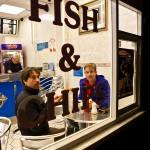 Tradities vergaan niet, eten voordat we de boot pakken in Dover
