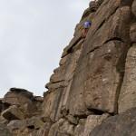 Rutger zekert Sophie op 'Paradise Wall'