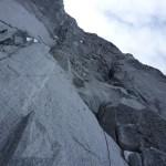 Niek in de 2e lengte in de rots © N.van Veen
