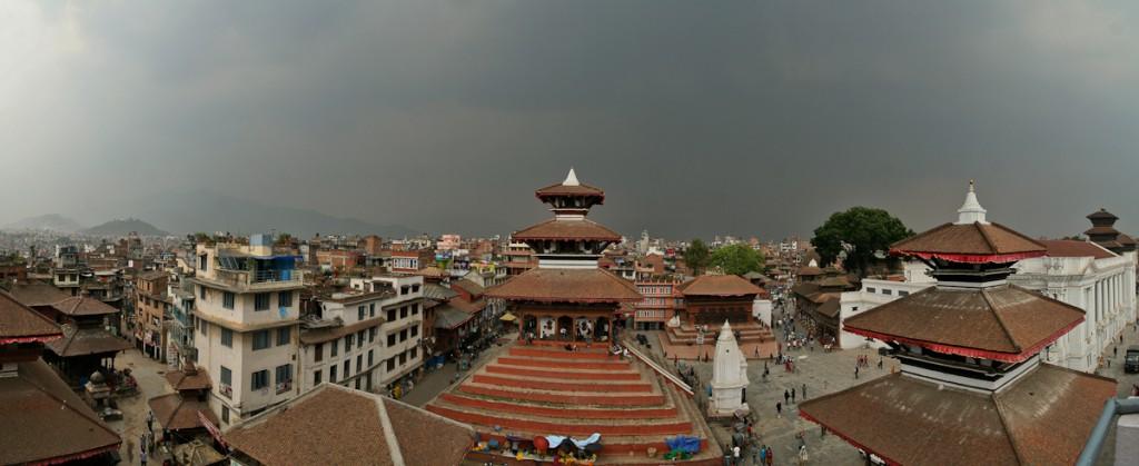 De prachtige stad Kathmandu in 2009