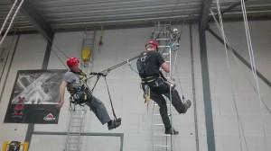 Een complexe redding: 'a mid tranfer rescue'