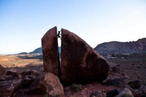 Een boulder die je wel moet beklimmen!!