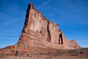 De Tower of Babel met de route Zenyatta Entrada die loopt over de smalle linker wand