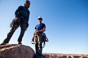 Steven en Pete op de top van de Tower of Babel!