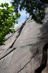 Een onbekende zwitserse klimmer in Ingmars Kamin (6- R).