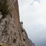 Bert in de derde lengte van de route Pesce d'Aprile.
