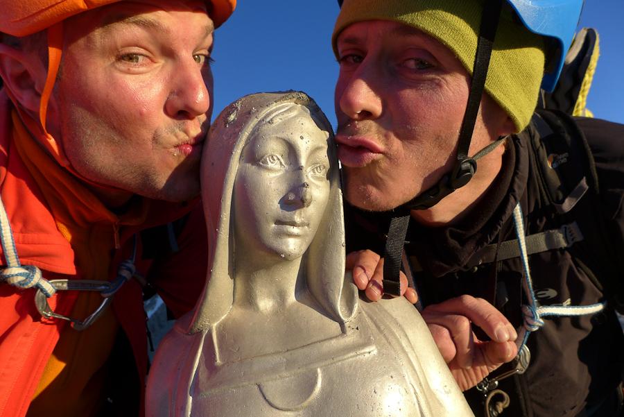 Voor de 2e keer een kusje aan Madonna © N. van Veen.