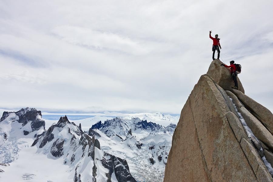 Op de top van de Ag. Guillaumet!