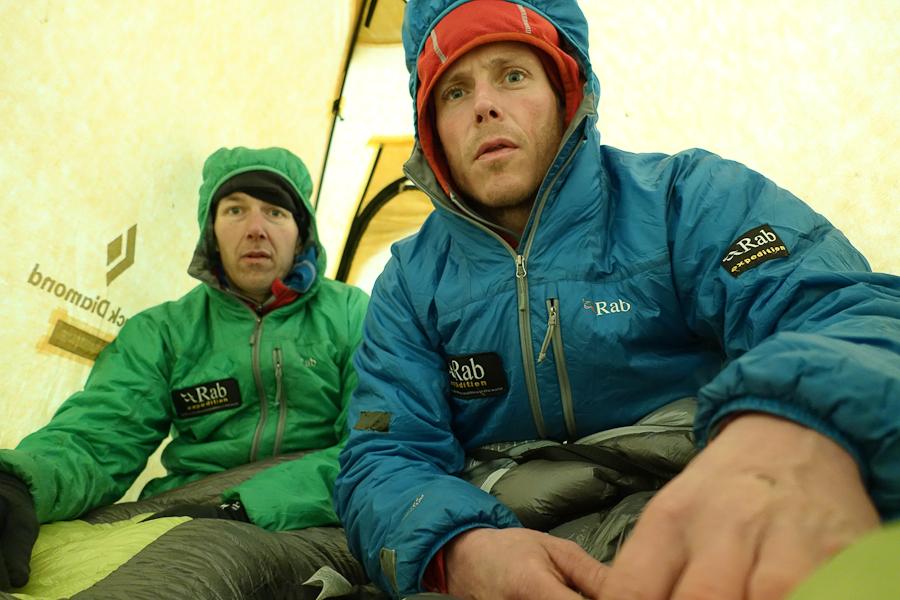 In de tent in Piedra Negra.