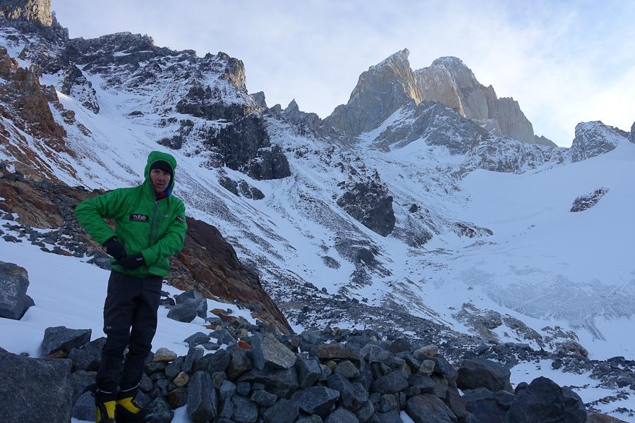 Jefta in Piedra Negra met op de achtergrond de Ag. Guillaumet.