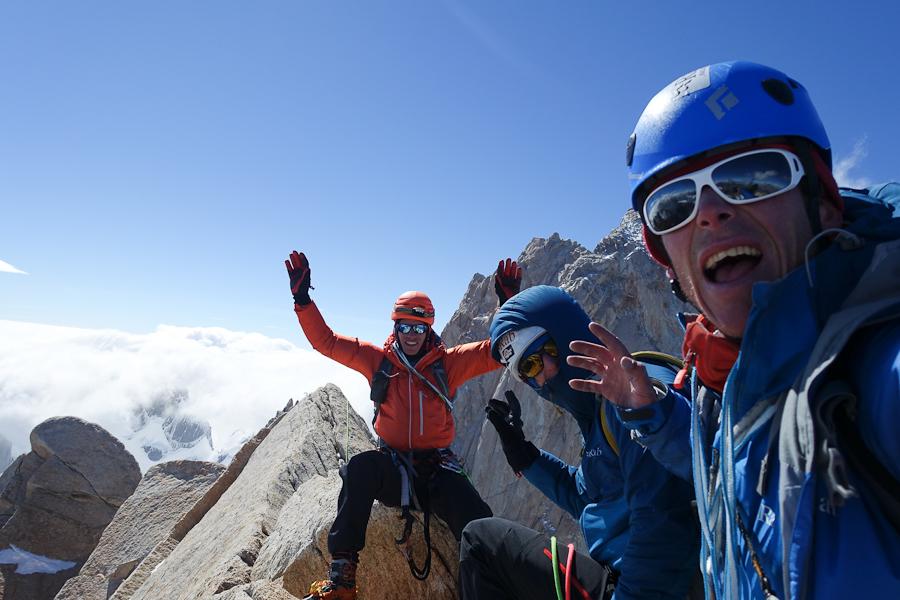 Groepsfoto op de top vd Poincenot!!