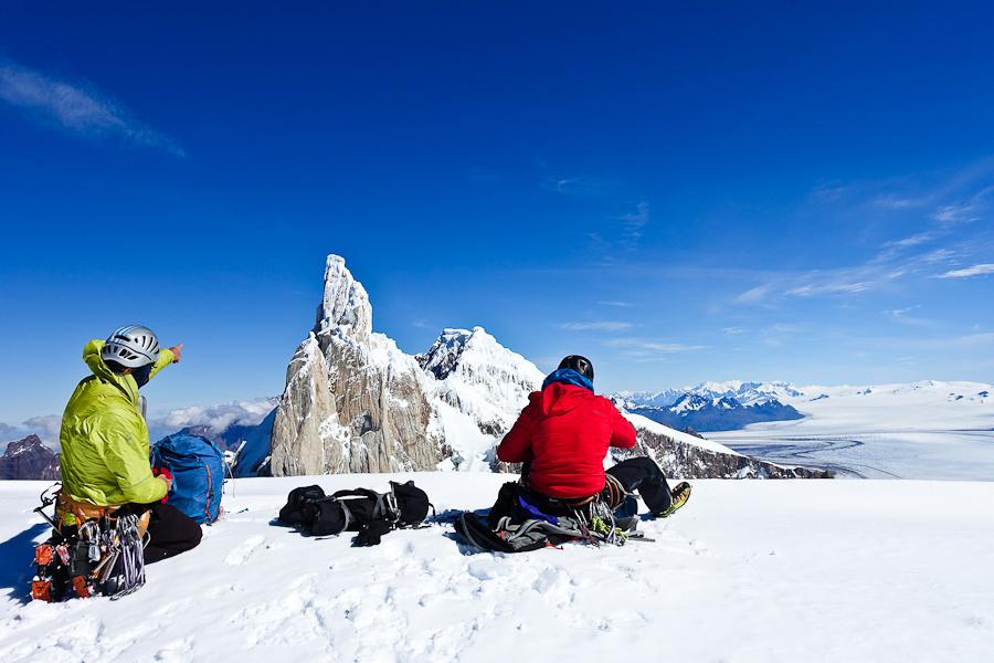 Op de top van de Domo Blanco met een hallucinerend mooi uitzicht!