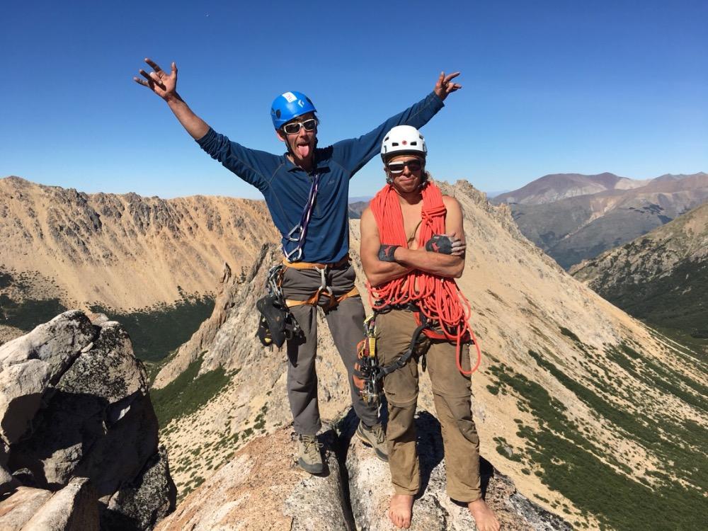 Alex and me on top of El Abuelo after climbing El Techo